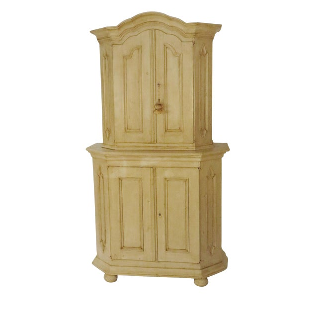 18th Century Swedish Painted Armoire For Sale