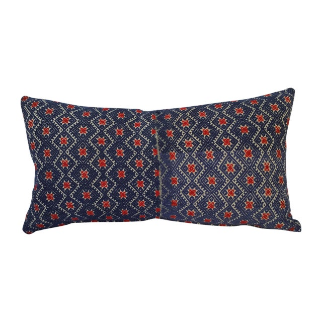 Hill Tribe Silk Embroidered Pillow For Sale