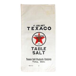 Vintage Texaco Table Salt Bag For Sale