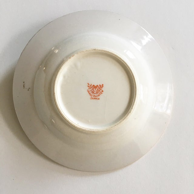 Vintage Hand Painted Candy Dish with Gold Trim For Sale - Image 4 of 5