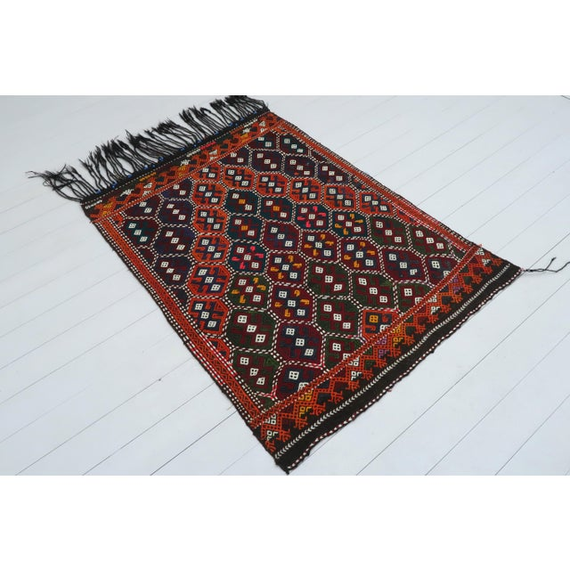 Rug & Kilim Vintage Turkish Kilim Rug For Sale - Image 4 of 13