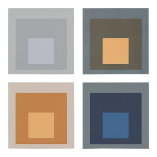 Modern Color Squares, Set of 4, Unframed Artwork For Sale
