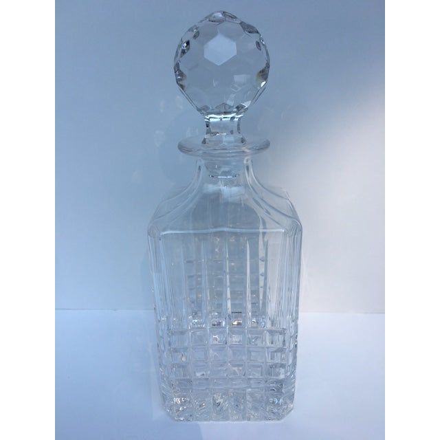 Transparent Tiffany & Co. Plaid Decanter & Old Fashion Glasses - Set of 3 For Sale - Image 8 of 8
