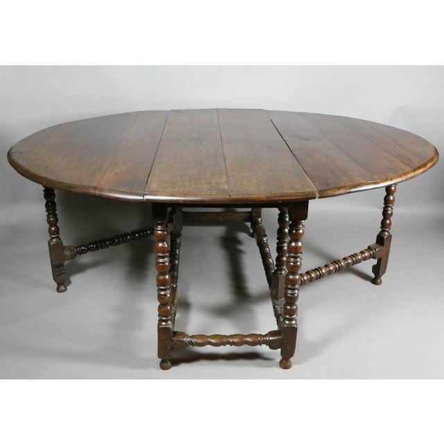 Large Jacobean Oak Gateleg Table For Sale - Image 11 of 11
