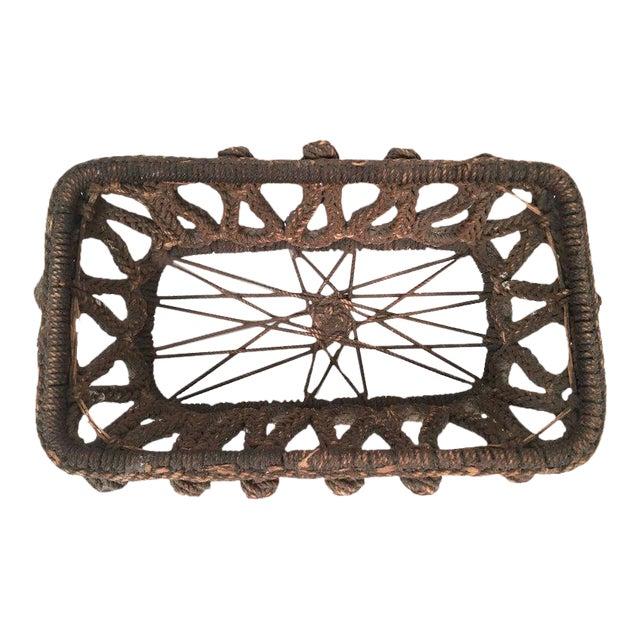 19th Century Sailor Made Ropework Basket For Sale
