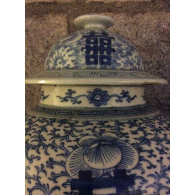 Chinese Blue and White Ginger Jars - a Pair For Sale - Image 4 of 10