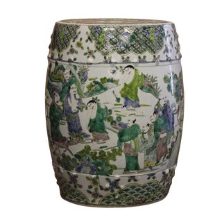 Chinese Porcelain Garden Stool For Sale
