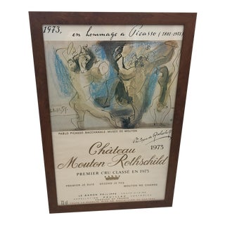 1973 Chateau Mouton Rothschild Picasso Label Poster