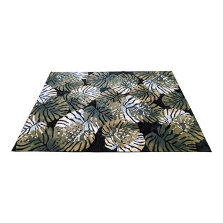 Palm Beach Regency Palm Frond Area Rug For Sale