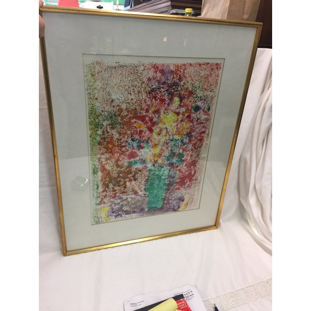 Luis Orozco Monotype Signed Mid Century Modern For Sale In San Francisco - Image 6 of 6