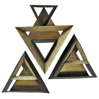 Curtis Jere Triangles Abstract Wall Sculpture For Sale
