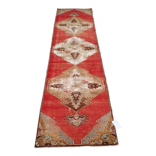 Turkish Rug Vintage Runner - 2′1″ × 10′2″oushak Runner,loong Runner Rug,bohemian Runner , For Sale