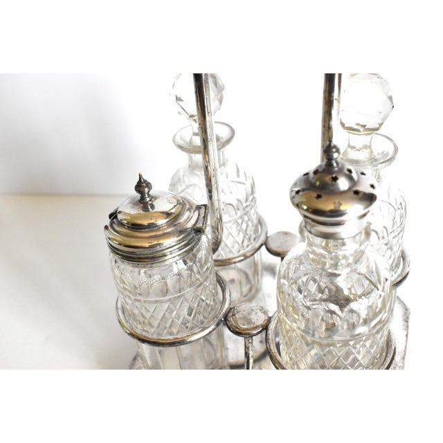 Victorian Condiment Cruet Caddy Set - 5 Piece Set For Sale In San Francisco - Image 6 of 9