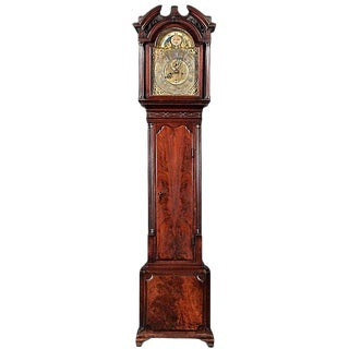 Period George III Mahogany Tallcase Clock For Sale