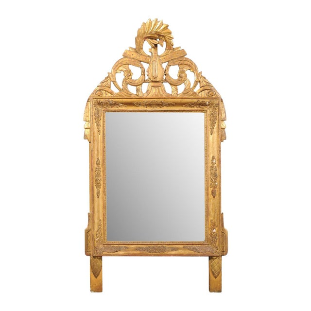 French Louis XV Style Giltwood Mirror with Hand Carved Liberal Arts Symbols For Sale - Image 10 of 10