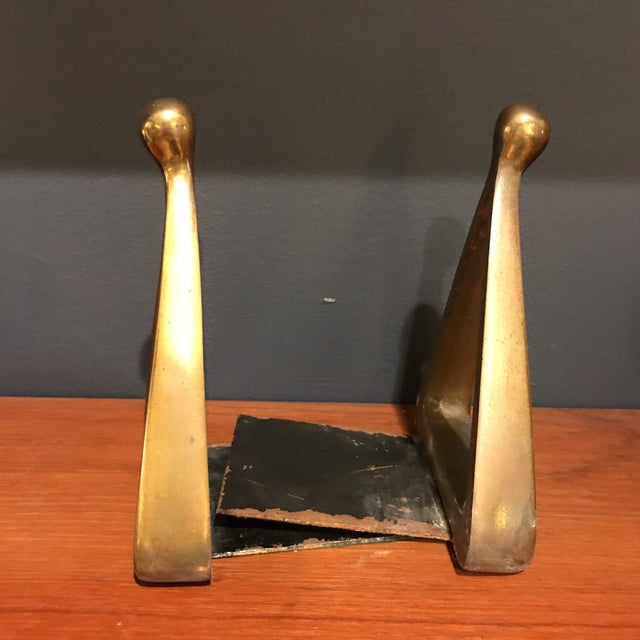 Ben Seibel Brass Bookends - A Pair - Image 2 of 4