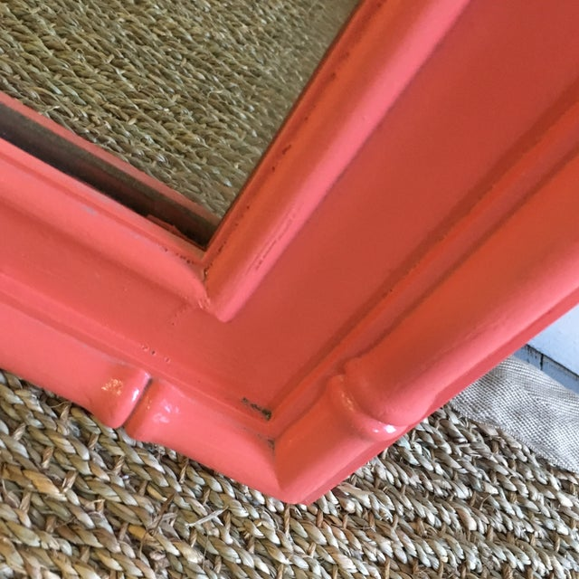 Vintage Coral Faux Bamboo Pagoda Style Mirror For Sale In Atlanta - Image 6 of 10