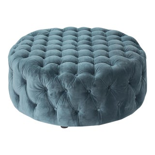 Manda Fabric Teal Coffee Table