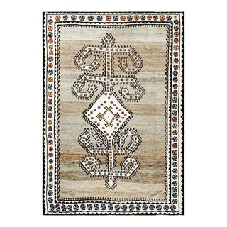 """Antique Persian Gabbeh Rug 5'0""""x 7'0"""" For Sale"""