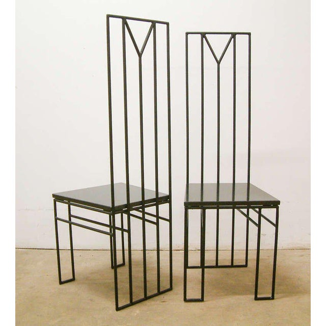 "1988 Maurice Beane Contemporary ""Retromac"" Chairs - A Pair For Sale - Image 4 of 11"