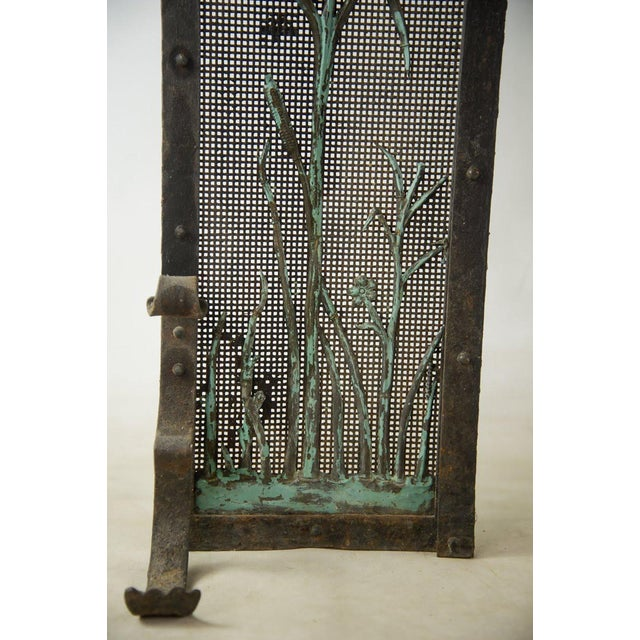 1940s Italian Iron Fireplace Screen For Sale - Image 5 of 7