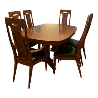 J. L. Metz Mid Century Louis XV French Style Dining Set For Sale