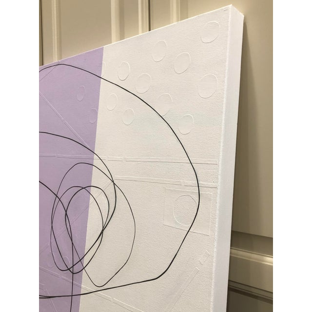 "Maura Segal ""Lavender"" Original Canvas Painting For Sale In Little Rock - Image 6 of 6"