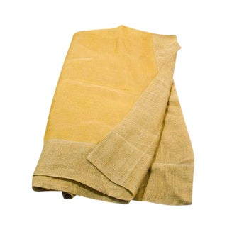 Sheer Linen Tablecloth in Yellow For Sale
