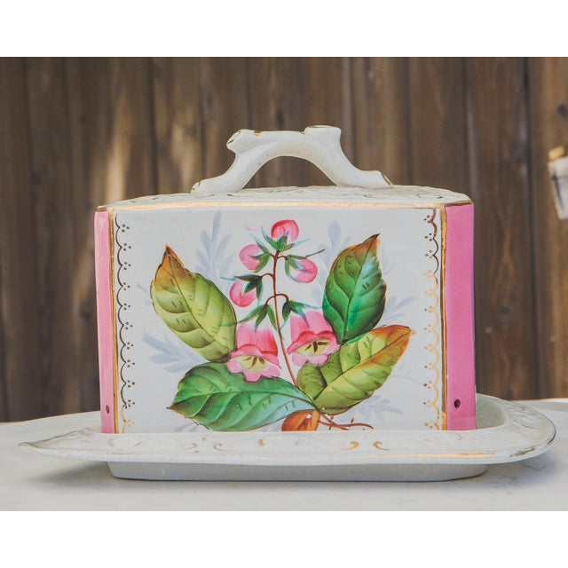 French Antique Porcelain Covered Cheese Keep For Sale - Image 3 of 12