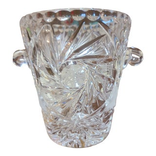 Antique Cut Crystal Ice Bucket For Sale