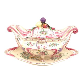 French Victorian Fruit Motif Soup Tureen For Sale