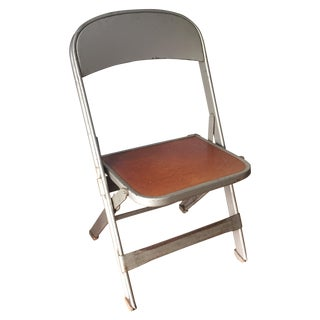 Vintage Metal School Photo Child's Chair For Sale
