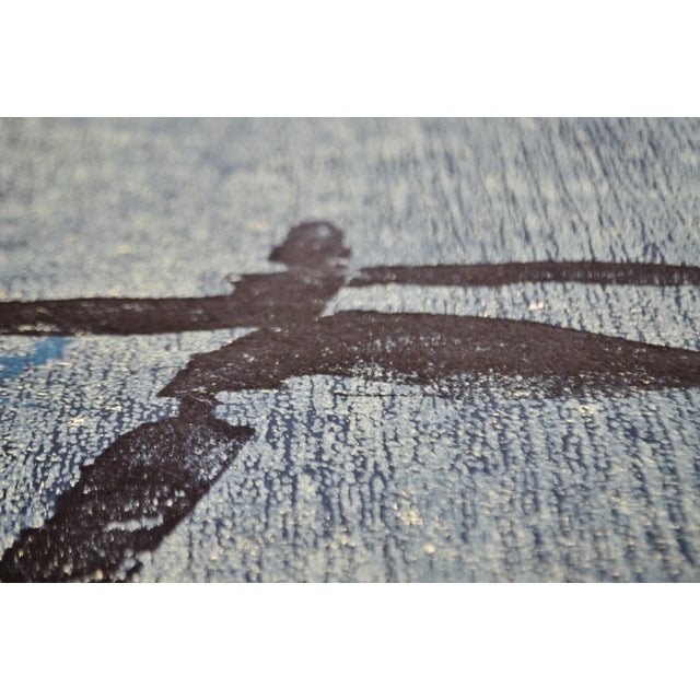 Printmaking Materials Vintage Libby Newman Oriental Mood II Artist Proof Woodcut - Pencil Signed For Sale - Image 7 of 13