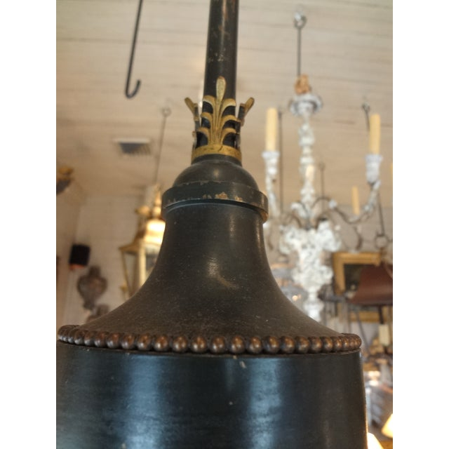 Gold 19th Century French Bronze Chandelier With Bonnets For Sale - Image 8 of 11