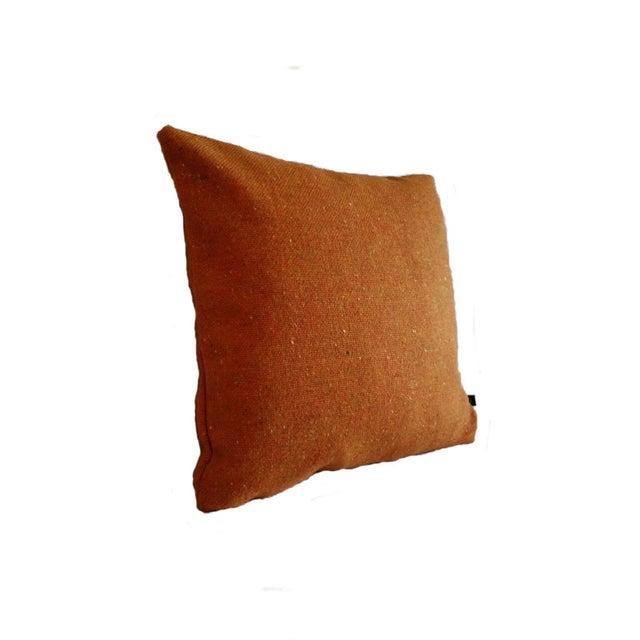 Maharam Melange Tweed Inca Orange Wool Pillow Cover - Image 2 of 2