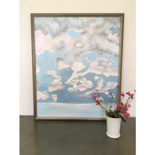 2010s Pink Cloud Sky Original Painting by Natalie Mitchell For Sale - Image 5 of 7
