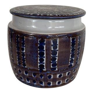 1960s Aluminia Royal Copenhagen Tenera Line Lidded Jar, Denmark For Sale