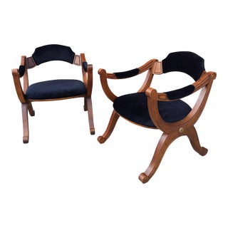 1960s Vintage Drexel Esperanto X Chairs- Set of 2 For Sale