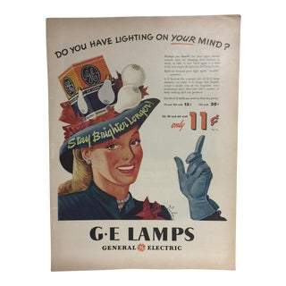 Vintage GE Lamps Ad For Sale