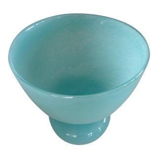 Contemporary Swedish Aqua Glass Vase For Sale