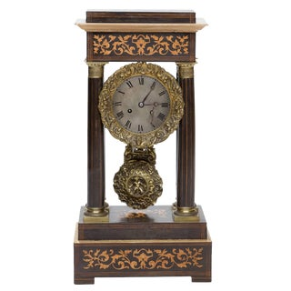 19th Century Antique French Portico Mantel Clock For Sale
