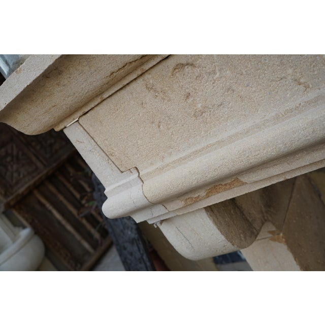 French Antique Limestone Mantel, circa 1820 For Sale - Image 3 of 6