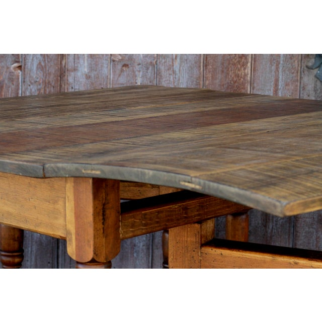 Spanish Colonial Folding Gateleg Table For Sale - Image 11 of 12