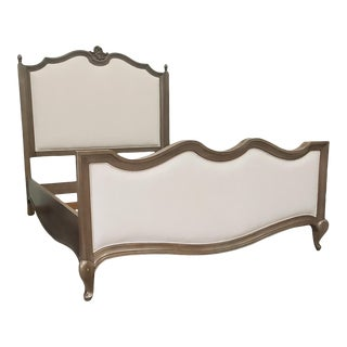 Thomasville Furniture Parisian Upholstered Queen Bed ~ French Country For Sale
