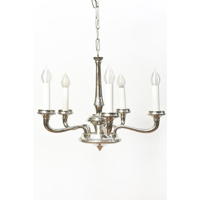 Contemporary Chrome Chandelier - Image 2 of 4