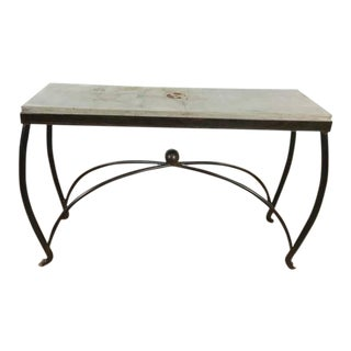 Jan Barboglio Handcrafted Wrought Iron & Stone Console Table