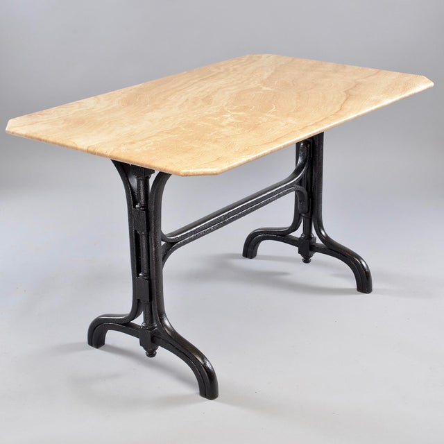 Pub Table With Marble Top and Ebonised Bentwood Base For Sale - Image 12 of 12