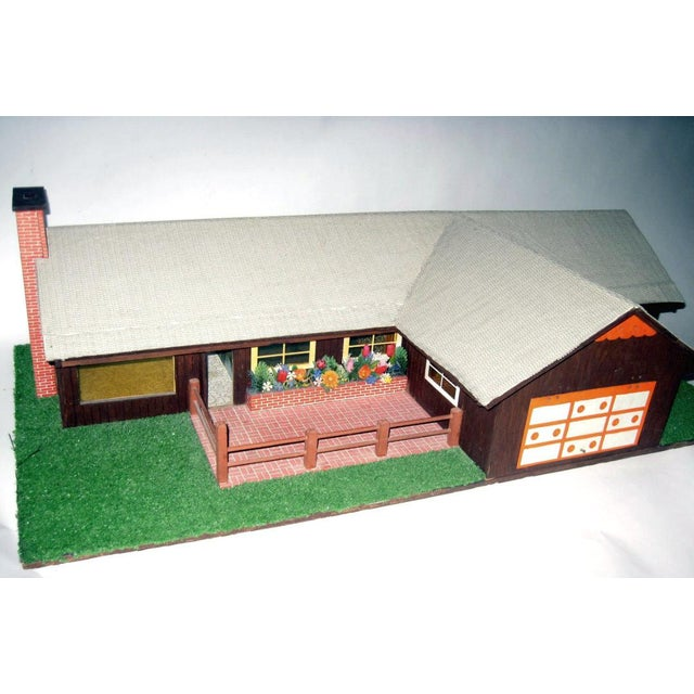 Folk Art C.1970s Ranch Style Dollhouse For Sale - Image 3 of 11