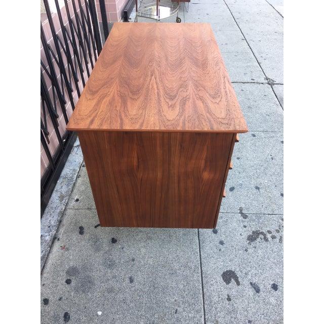 Vintage Mid-Century Wood Desk - Image 7 of 9