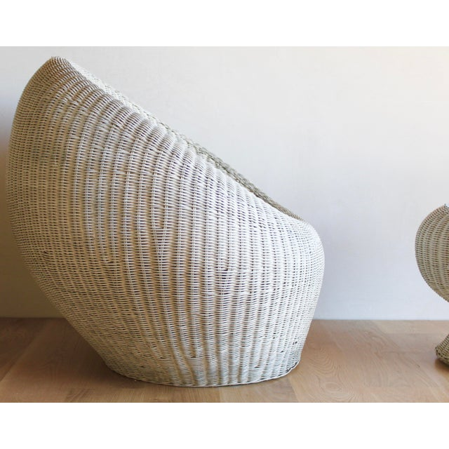Isamu Kenmochi for Yamakawa Japan Rattan Lounge Chair & Side Table For Sale In San Diego - Image 6 of 13